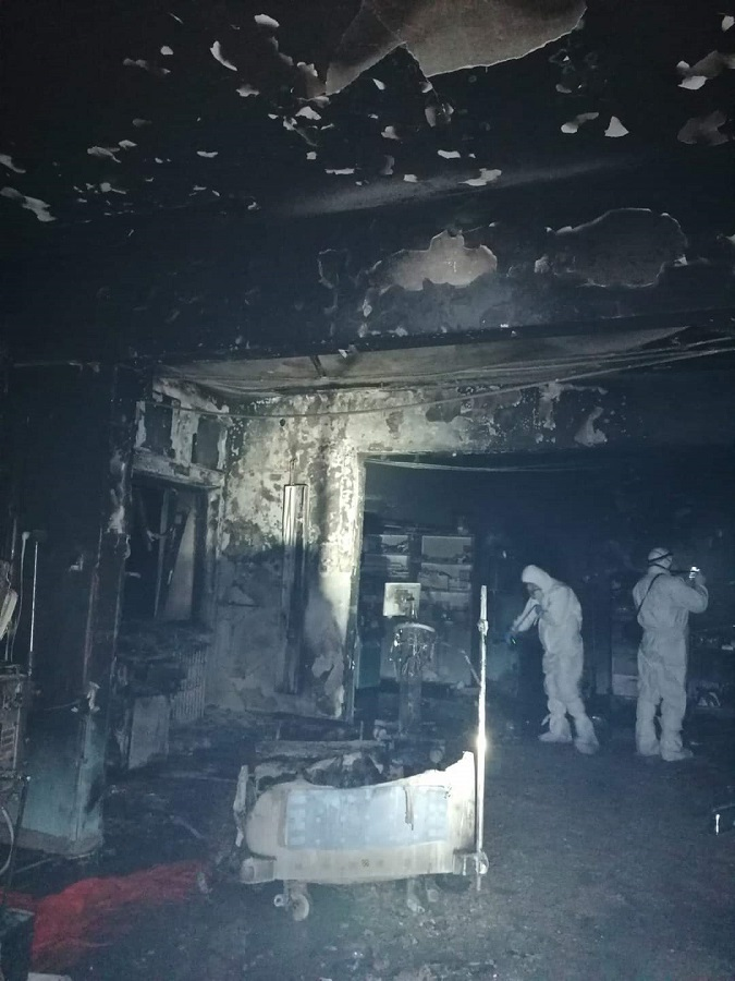 Incendiu la spitalul Judetean Neamt