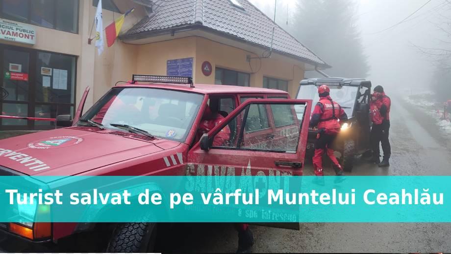 Turist salvat de pe vârful Muntelui Ceahlău